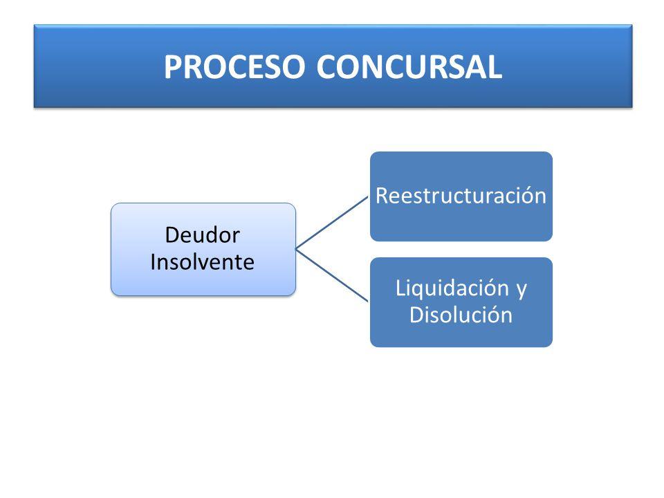 PROCESO CONCURSAL Deudor Insolvente Reestructuración Liquidación y Disolución