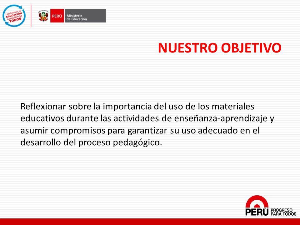 INDICADORES SOBRE EL USO DE LOS MATERIALES EDUCATIVOS EN LAS AULAS ENEDU- Encuesta Nacional de Instituciones Educativas 2012.