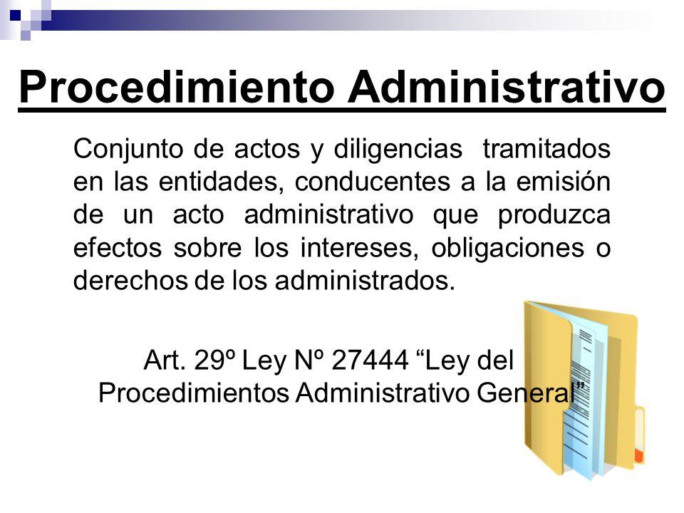 Conjunto de actos y diligencias tramitados en las entidades, conducentes a la emisión de un acto administrativo que produzca efectos sobre los interes