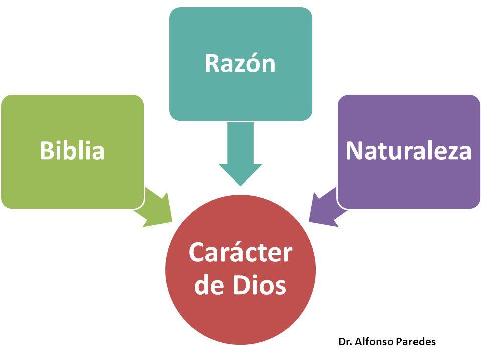 Carácter de Dios BibliaRazónNaturaleza Dr. Alfonso Paredes