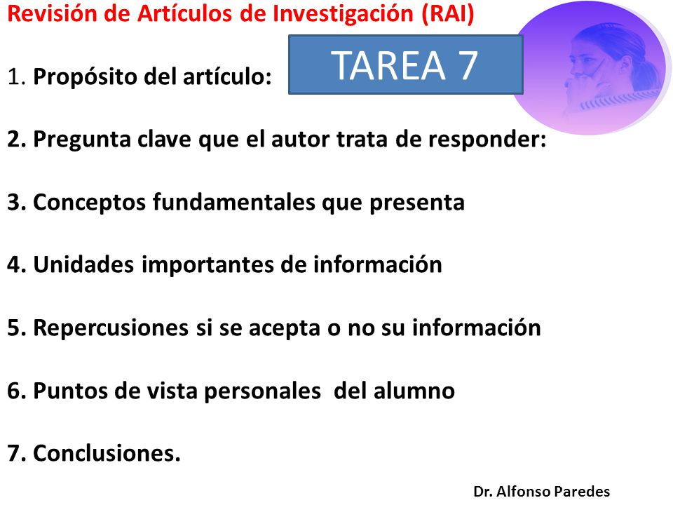 Revisión de Artículos de Investigación (RAI) 1. Propósito del artículo: 2.