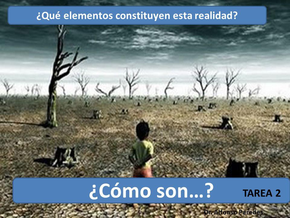 ¿Qué elementos constituyen esta realidad ¿Cómo son… TAREA 2 Dr. Alfonso Paredes