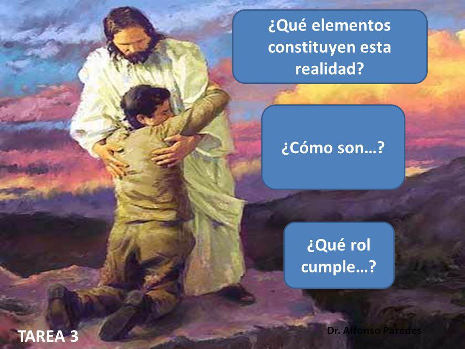 ¿Qué elementos constituyen esta realidad? ¿Cómo son…? ¿Qué rol cumple…? TAREA 3 Dr. Alfonso Paredes