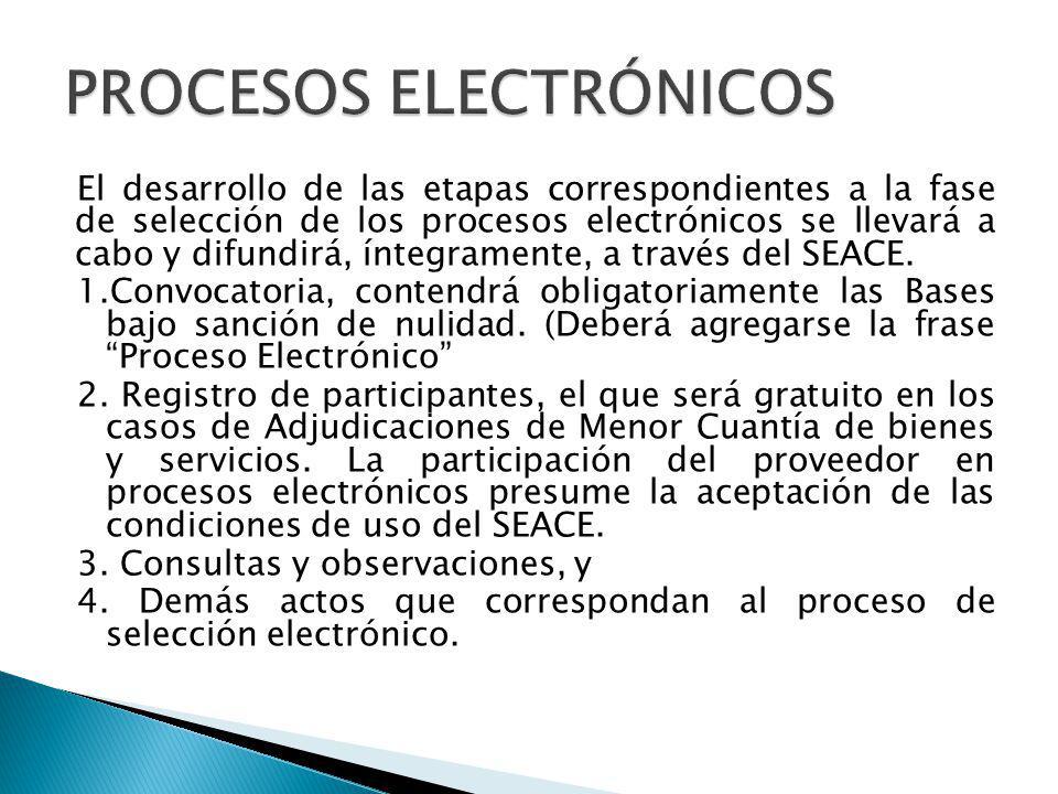 Los participantes registrarán sus propuestas a través del SEACE de acuerdo con las características, formatos y demás condiciones establecidas en las Bases.