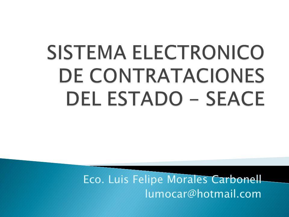 Eco. Luis Felipe Morales Carbonell lumocar@hotmail.com