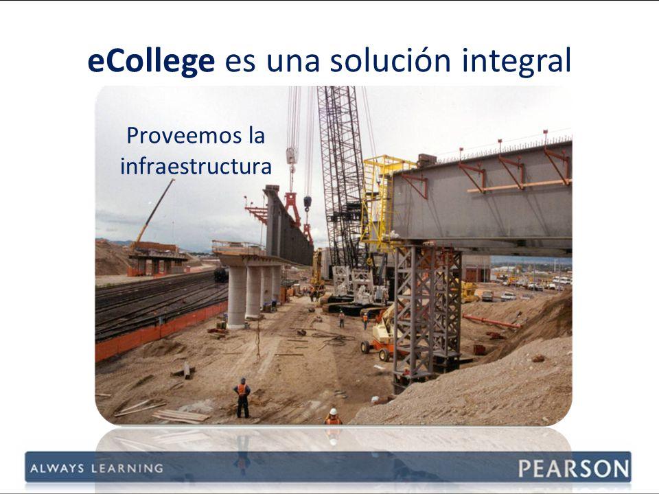 Proveemos la infraestructura eCollege es una solución integral