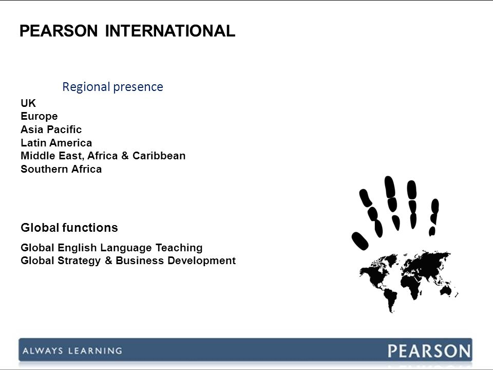 PEARSON INTERNATIONAL Growing the family 2003200420082005200720062009 LEC (China Language Schools) Dell English 20102011
