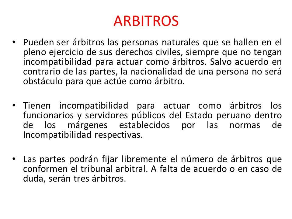 NOMBRAMIENTO DE ARBITROS 1.