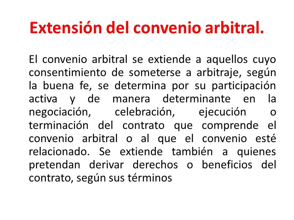 Excepción de convenio arbitral 1.