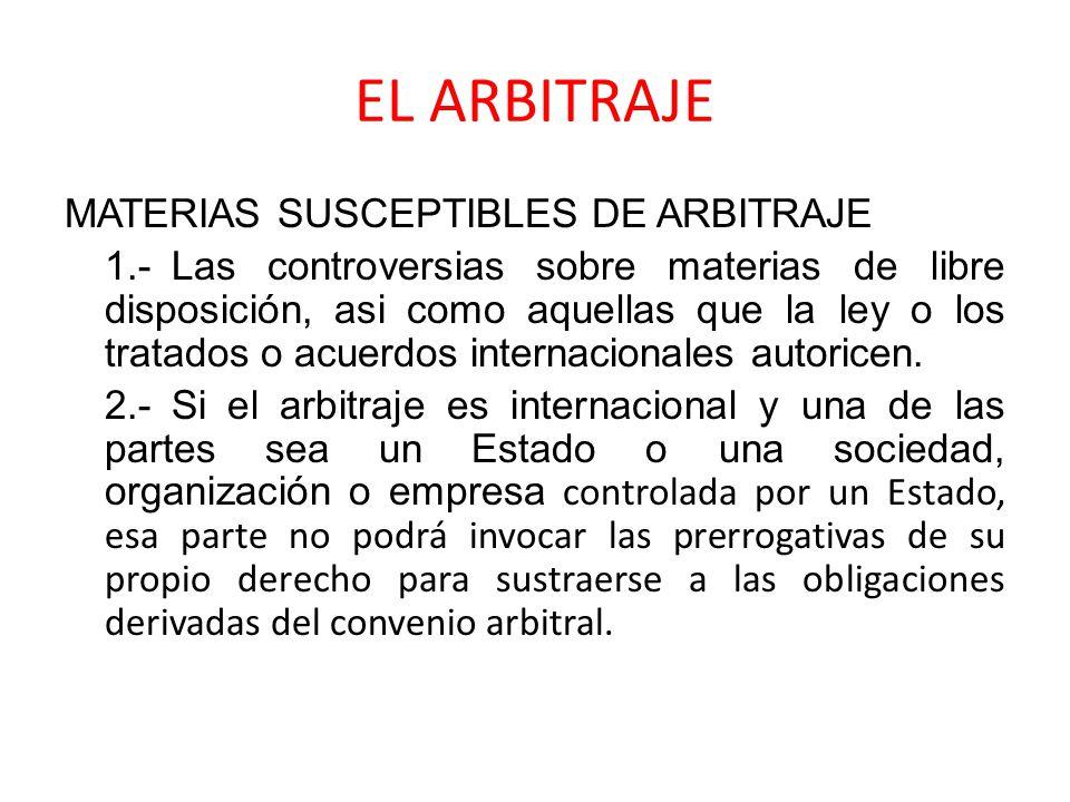 EL ARBITRAJE PRINCIPIOS 1.
