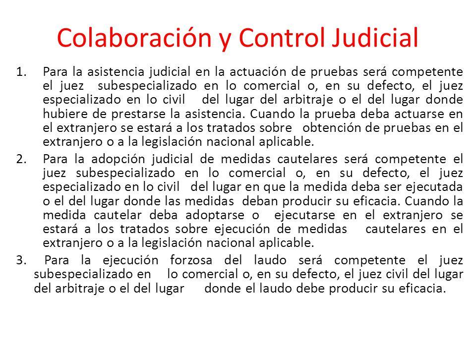 Colaboración y Control Judicial 4.