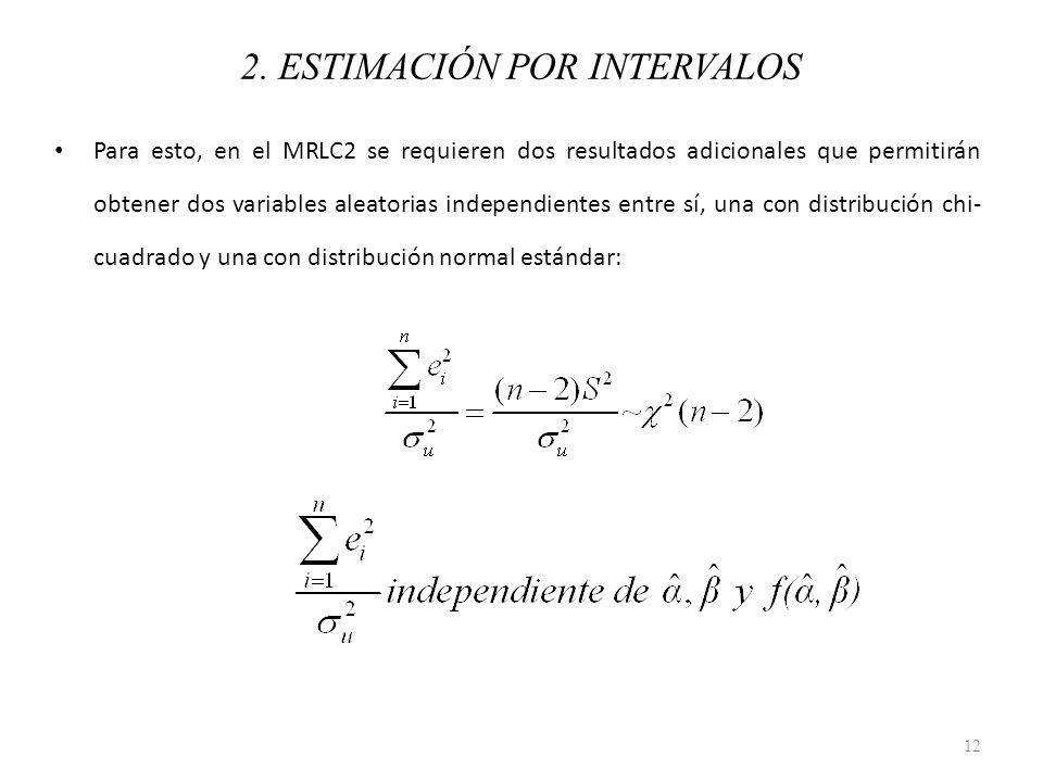Para esto, en el MRLC2 se requieren dos resultados adicionales que permitirán obtener dos variables aleatorias independientes entre sí, una con distri