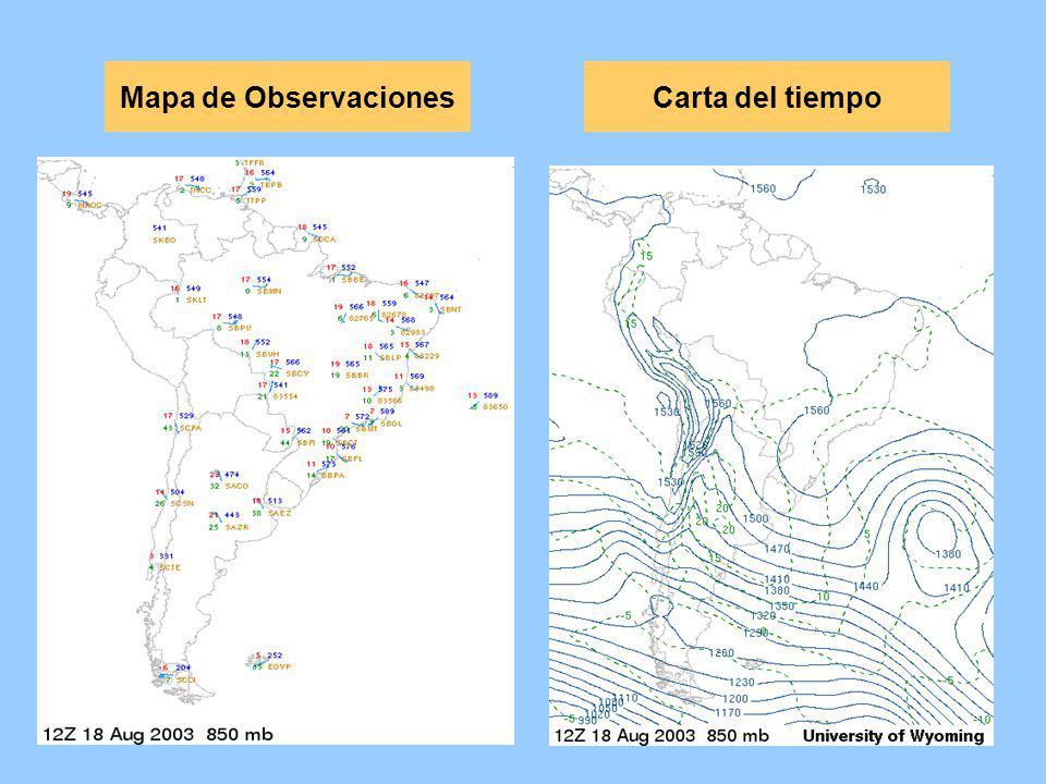 Mapa de ObservacionesCarta del tiempo