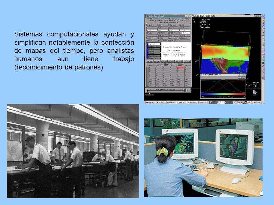 Sistemas computacionales ayudan y simplifican notablemente la confección de mapas del tiempo, pero analistas humanos aun tiene trabajo (reconocimiento
