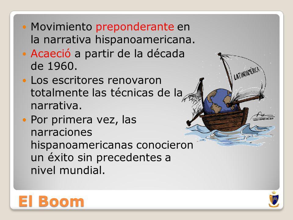 El Boom Movimiento preponderante en la narrativa hispanoamericana.