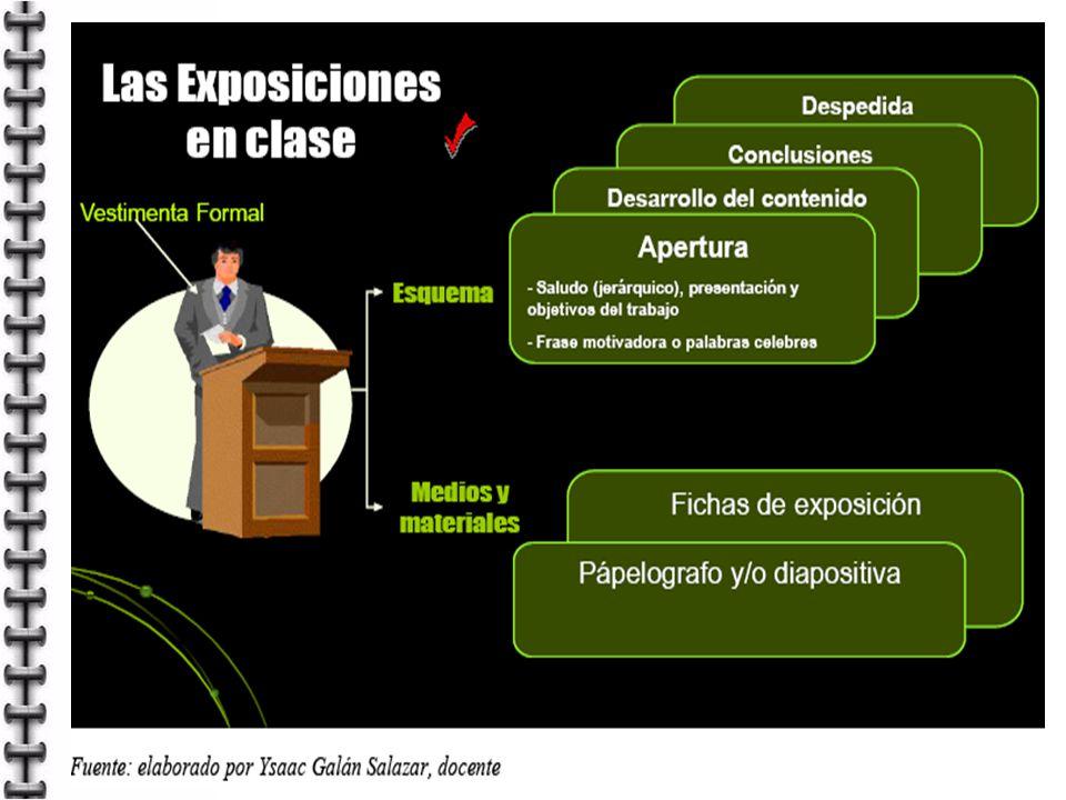 1ª diapositiva: Título y nombre de expositores.En las siguientes PPT resaltar el título del tema.