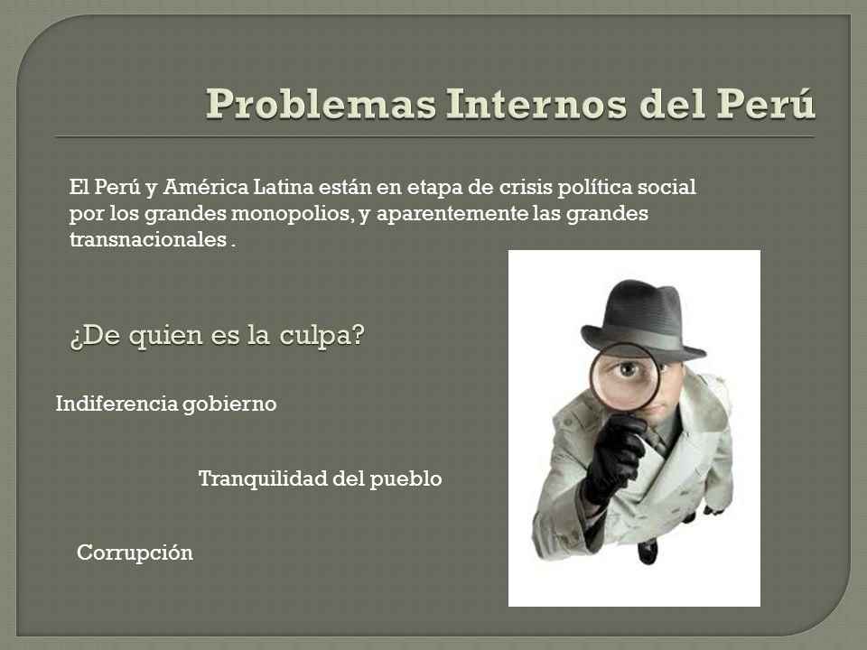 Asignatura: REALIDAD NACIONAL Tema: Problemas Internos