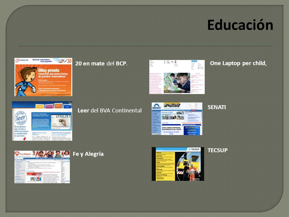 Educación 20 en mate del BCP.