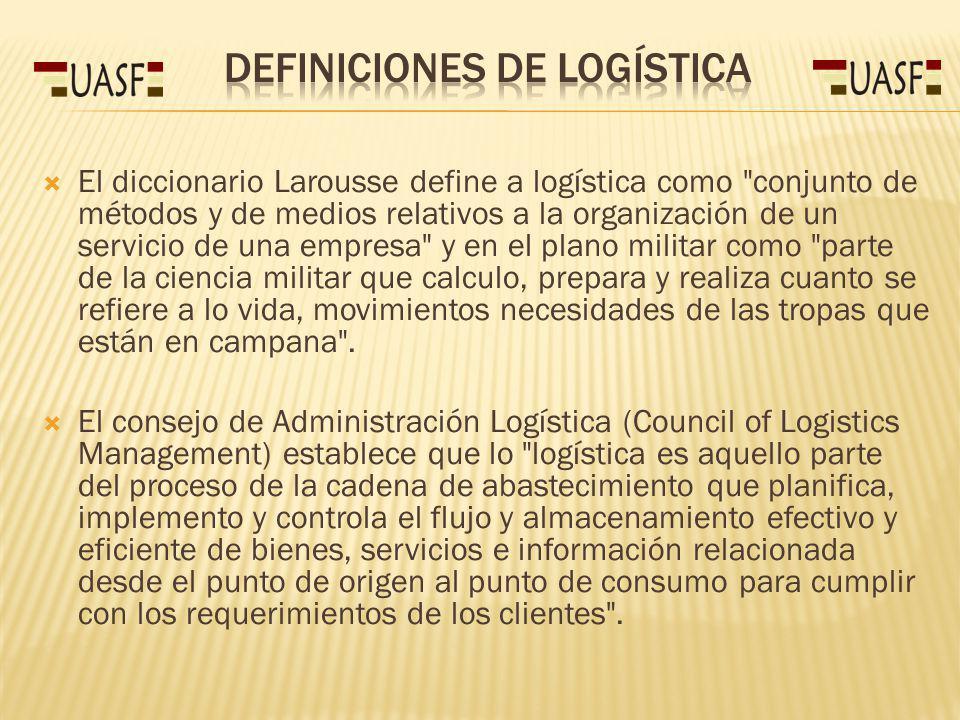 Las actividades logísticas deben coordinarse entre sí para lograr mayor eficiencia en todo el sistema productivo.