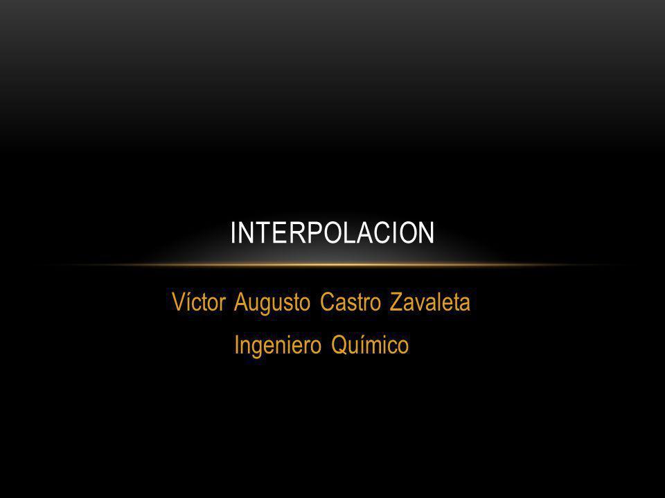 Víctor Augusto Castro Zavaleta Ingeniero Químico INTERPOLACION