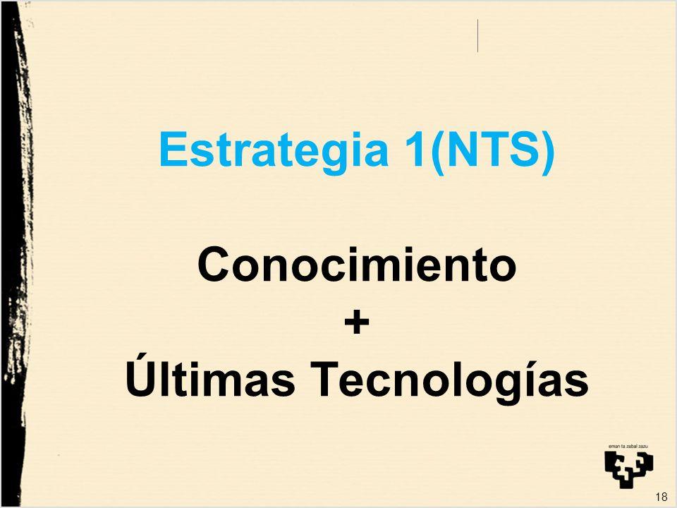 Estrategia 1(NTS) Conocimiento + Últimas Tecnologías 18