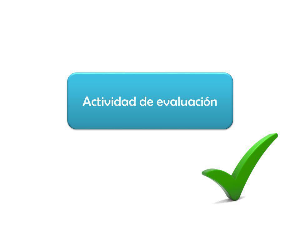 Actividad de evaluación