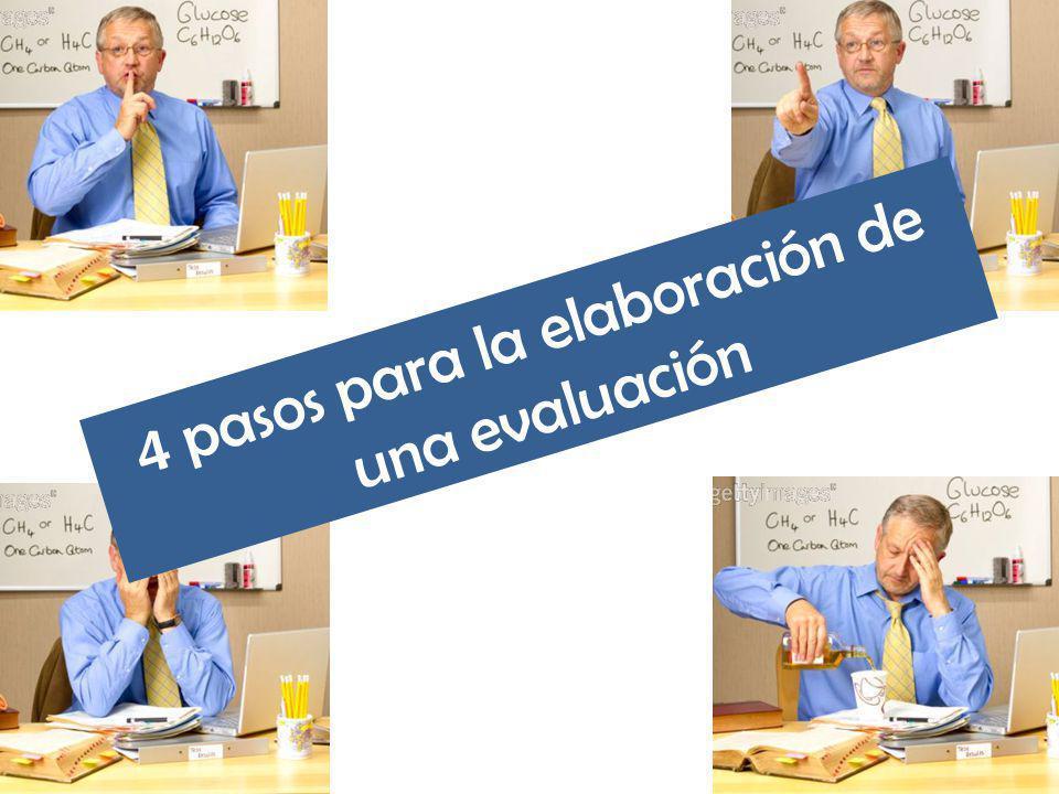 4 pasos para la elaboración de una evaluación