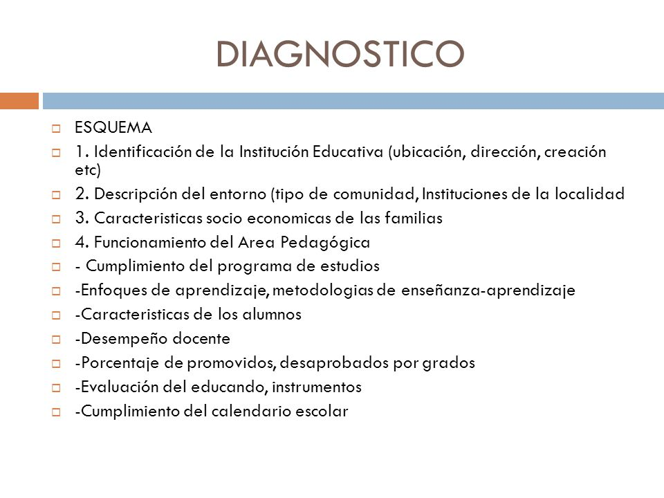 DIAGNOSTICO ESQUEMA 1.