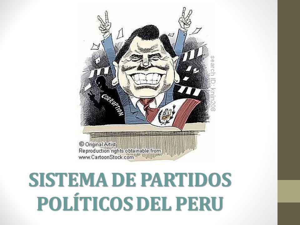 SISTEMA DE PARTIDOS POLÍTICOS DEL PERU
