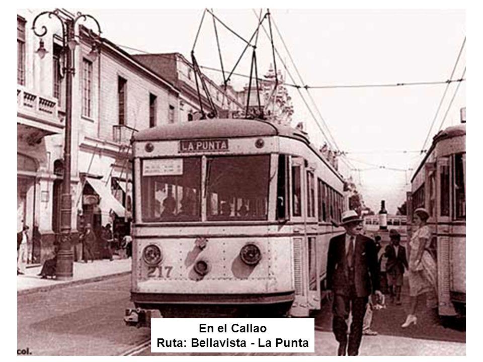 En el Callao Ruta: Bellavista - La Punta