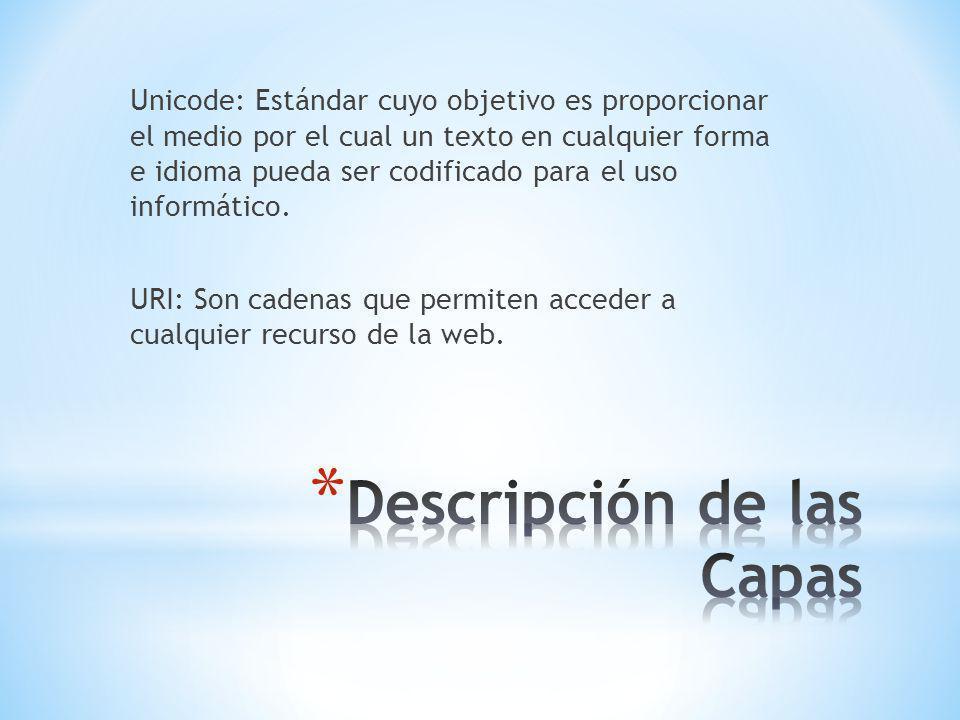 Unicode: Estándar cuyo objetivo es proporcionar el medio por el cual un texto en cualquier forma e idioma pueda ser codificado para el uso informático.