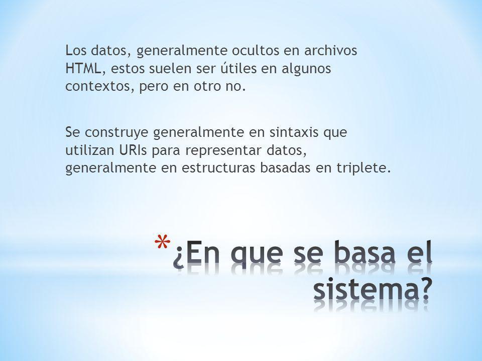 Los datos, generalmente ocultos en archivos HTML, estos suelen ser útiles en algunos contextos, pero en otro no.