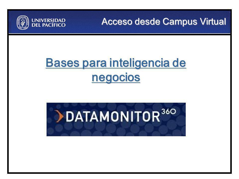Acceso desde Campus Virtual Bases para inteligencia de negocios
