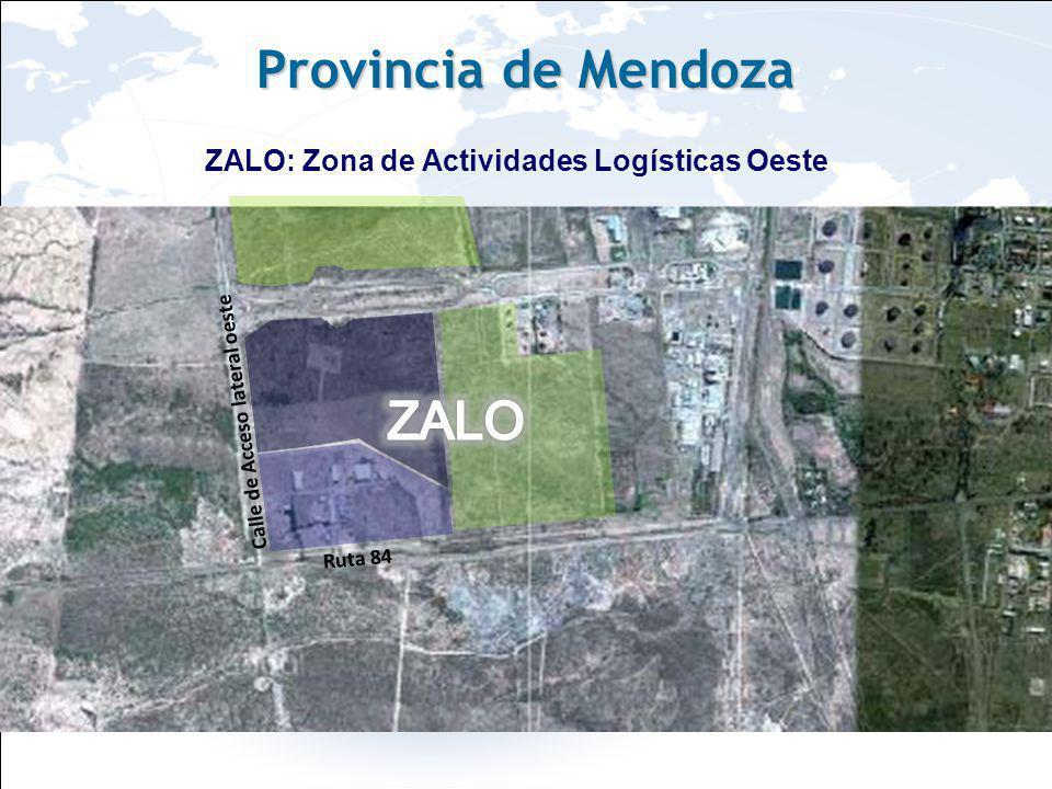 Imágenes ZALO: Zona de Actividades Logísticas Oeste Provincia de Mendoza Ruta 84 Calle de Acceso lateral oeste