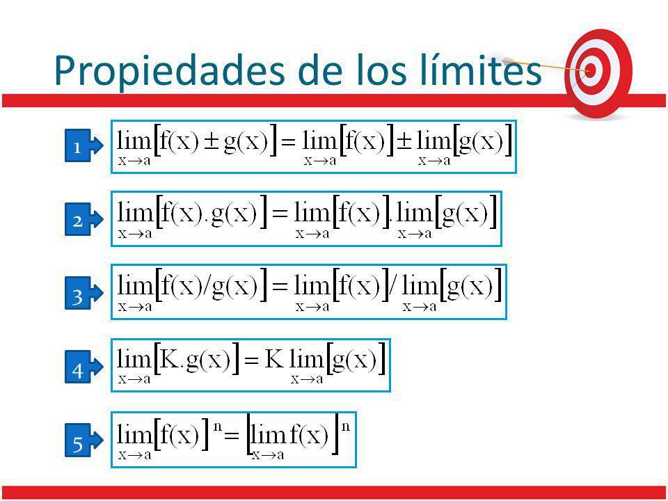 Propiedades de los límites 1 2 3 4 5