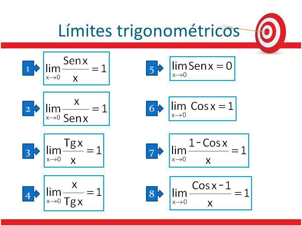Límites trigonométricos 5 6 7 8 1 2 3 4