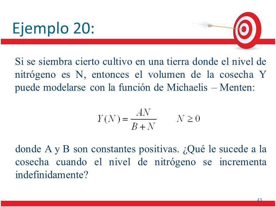 43 Ejemplo 20: donde A y B son constantes positivas.
