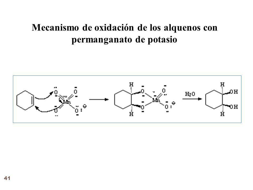 Mecanismo de oxidación de los alquenos con permanganato de potasio 41