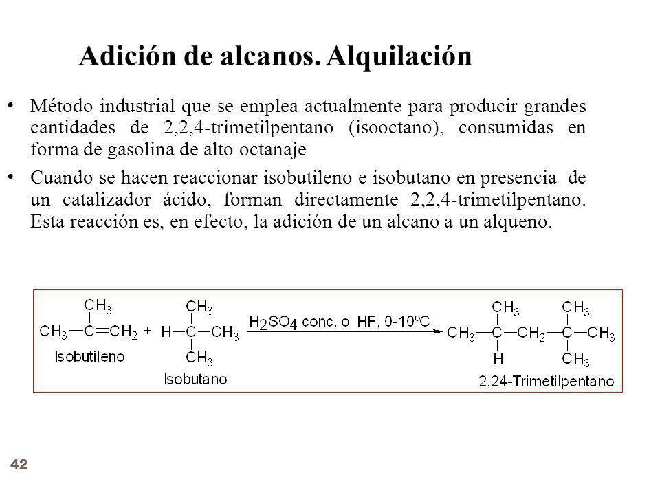 Adición de alcanos.