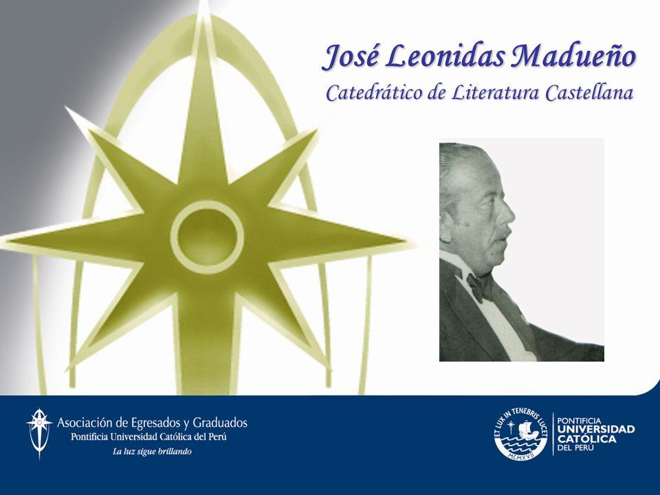 José Leonidas Madueño Catedrático de Literatura Castellana