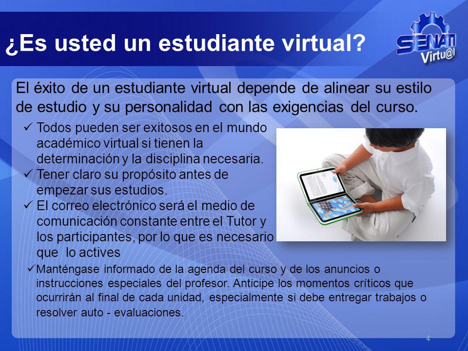 El éxito de un estudiante virtual depende de alinear su estilo de estudio y su personalidad con las exigencias del curso.