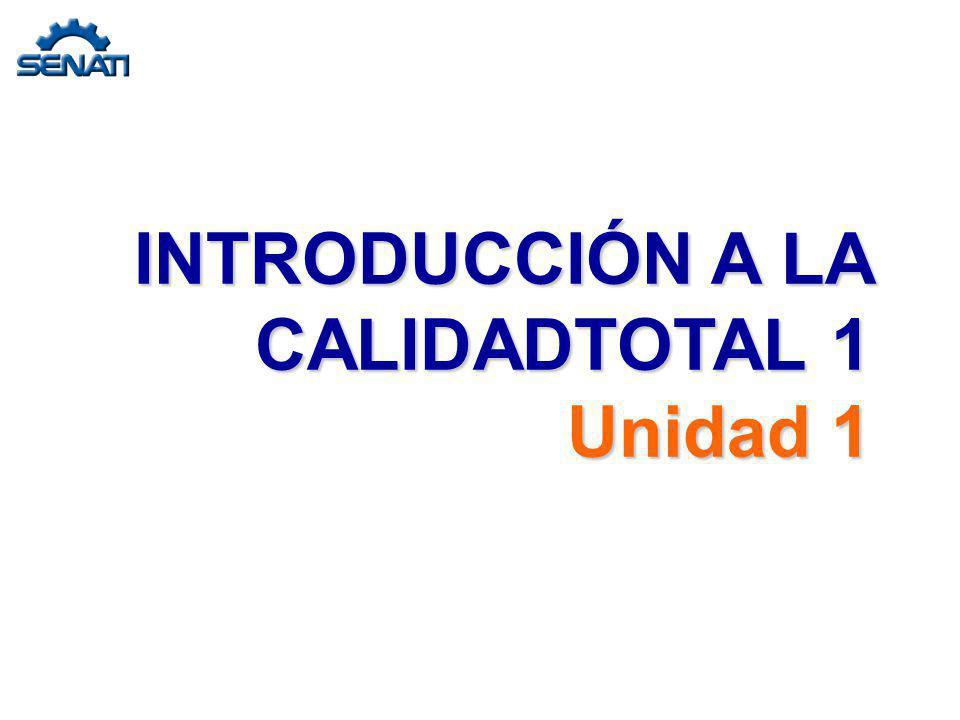 INTRODUCCIÓN A LA CALIDADTOTAL 1 Unidad 1
