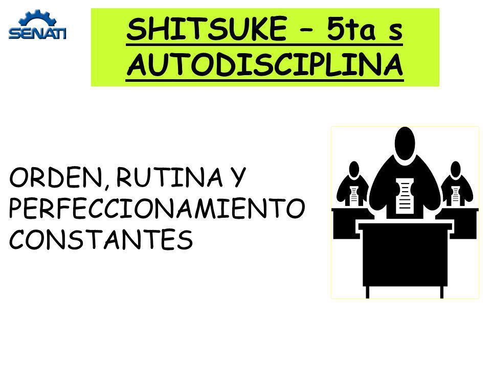 SHITSUKE – 5ta s AUTODISCIPLINA ORDEN, RUTINA Y PERFECCIONAMIENTO CONSTANTES