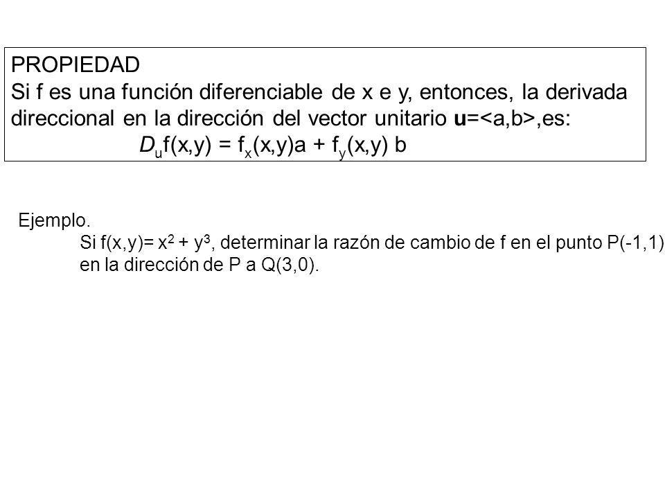 GRADIENTE Sea z = f(x,y) una función de dos variables x e y, entonces, el gradiente de f, es la función vectorial f(x,y) definida como: f(x,y) = = i + j, donde: i = ; j = Sea f una función de tres variables x, y, z; entonces, el gradiente de f, es la función vectorial f(x,y,z) definida como: f(x,y,z) = = i + j + k, donde: i = ; j = ; k=