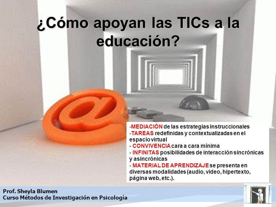 ¿Cómo apoyan las TICs a la educación.