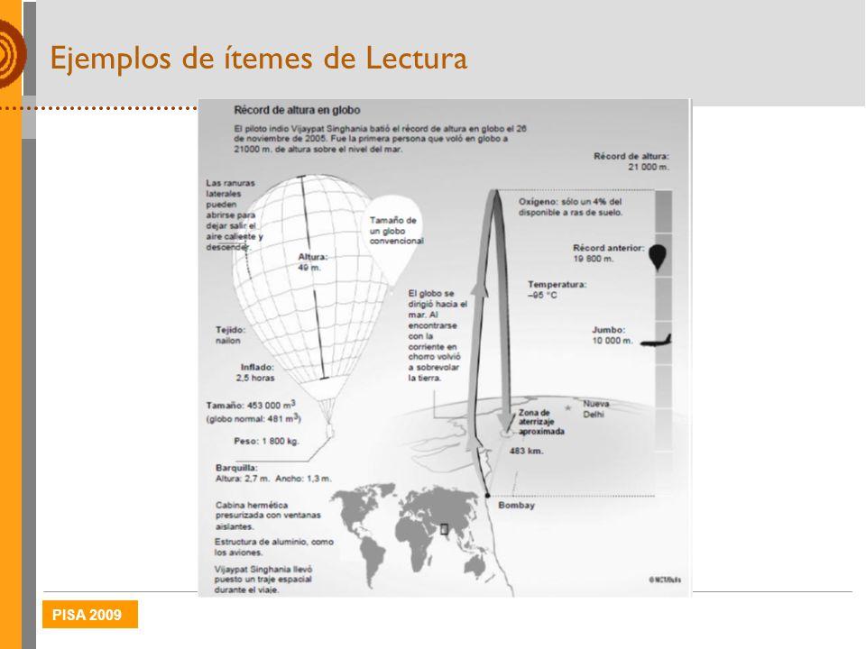 PISA 2009 Ejemplos de ítemes de Lectura