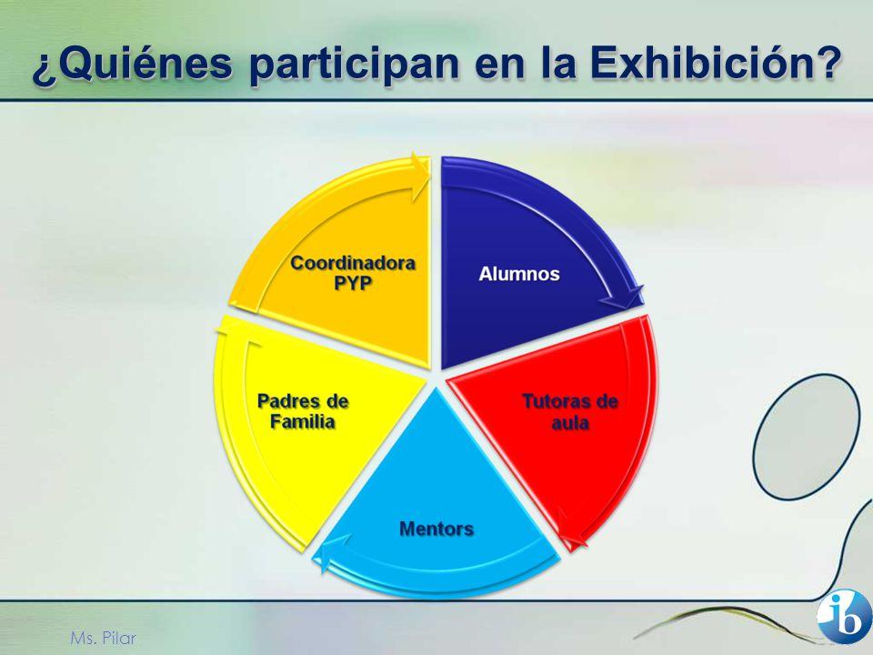 Ms. Pilar ¿Quiénes participan en la Exhibición?