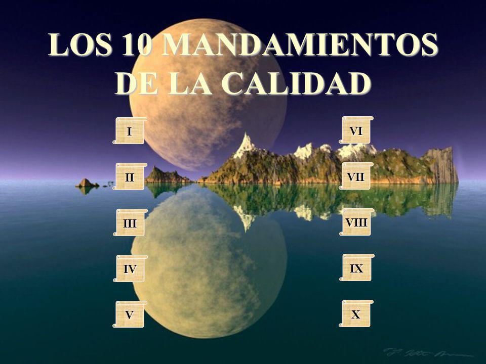 LOS 10 MANDAMIENTOS DE LA CALIDAD IIII II III IV VVVV VI VII VIII IX XXXX
