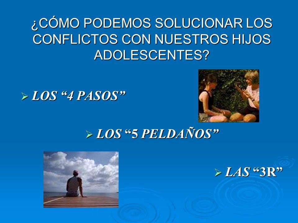 Los 4 pasos 1.Describir la conducta problema. 2. Expresar tus sentimientos 3.