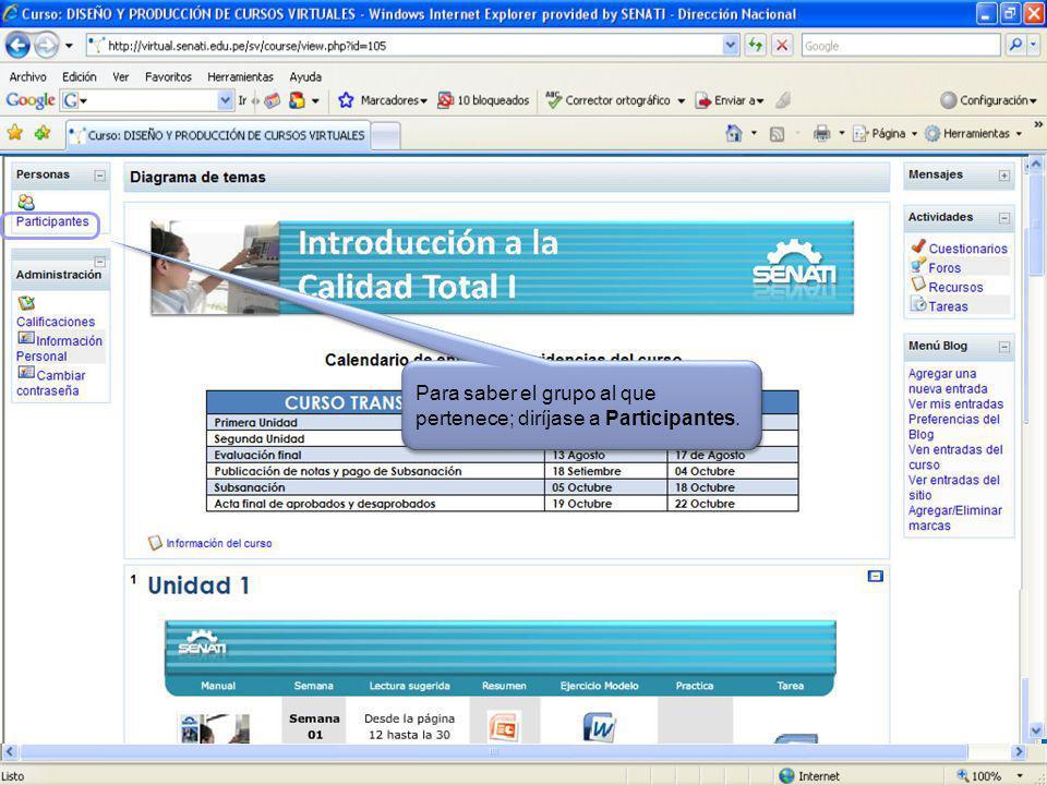 Aquí verá la FECHA de entrega de las TAREAS Haz clic dentro de los marcos rojos para más información.